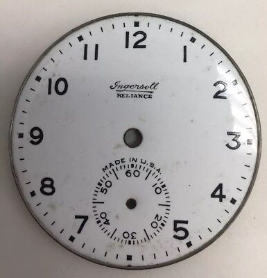 Vintage Ingersoll Reliance Porcelain Pocket Watch Dial 6