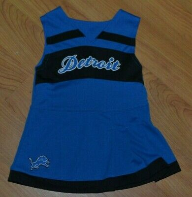 Detroit Lions Girls Youth 2T 1 Piece Cheerleader Uniform Skirt Top Cheer Nice  Detroit Lions Youth Uniform