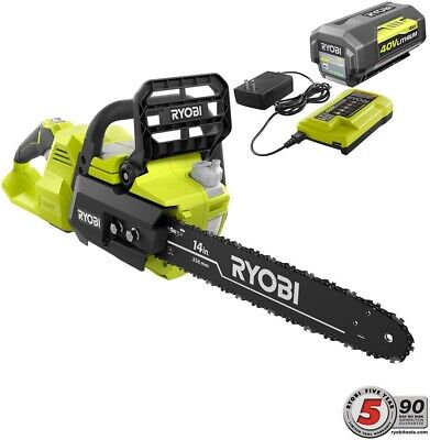 RYOBI 14 in. 40-Volt Brushless Lithium-Ion Cordless Chainsaw