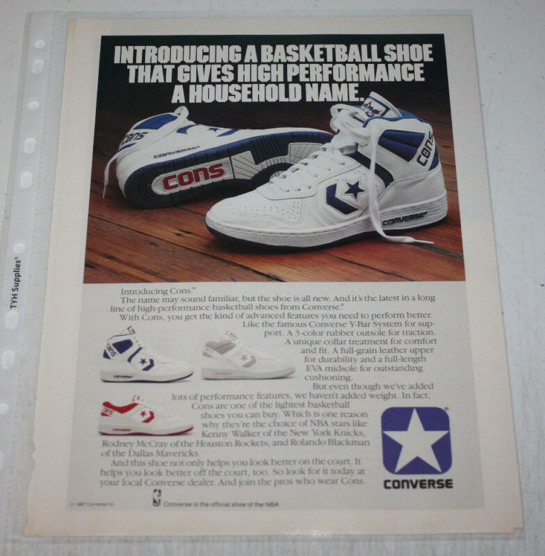 a0cf21781f5195 Vintage Converse Sneakers Advertising Print Ad