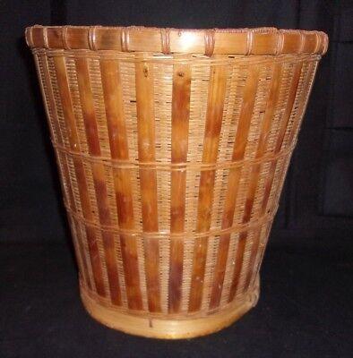 Mid Century Decor Collectible Basket/Trash Can