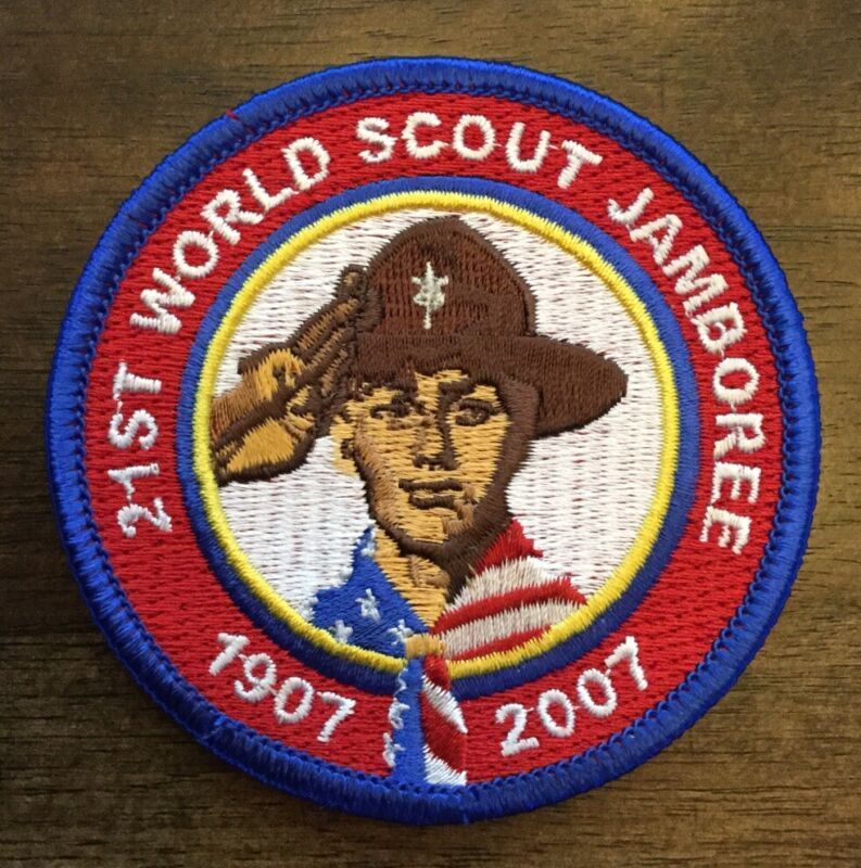 2007 WORLD SCOUT JAMBOREE Boy Scouts of America BSA T ROUND POCKET PATCH