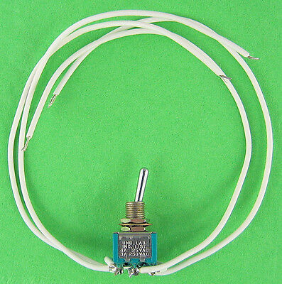 Polarity Reversing Switch Reverses Rotation Of Compatible Motors Wire Leads New