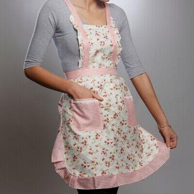 Floral Vintage Kitchen Apron Cooking Tea Shop Garden Party Hen Night Fancy Dress