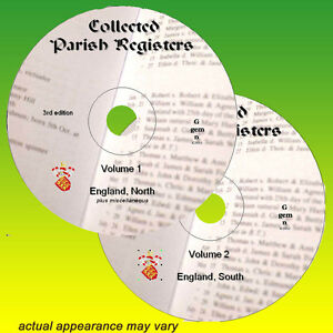 660+ Parish Registers All England  on 2x DVD ( north & south ) genealogy records
