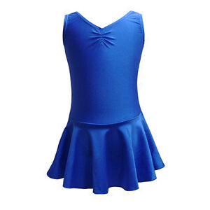 MIA NYLON LYCRA DANCE BALLET SKIRTED LEOTARD WITH SKIRT ISTD DRESS