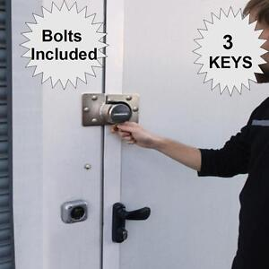 Shed Garage Door Lock And Hasp Staple 3 Keys High