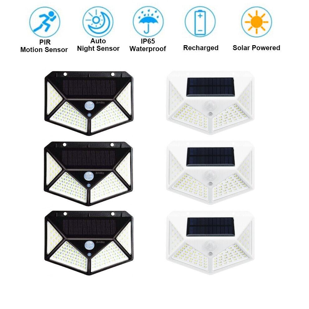 100 led waterproof solar power pir motion