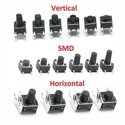 Momentary Tactile Push Button Switch Verticalsmdhorizontal Mini Micro Pcb