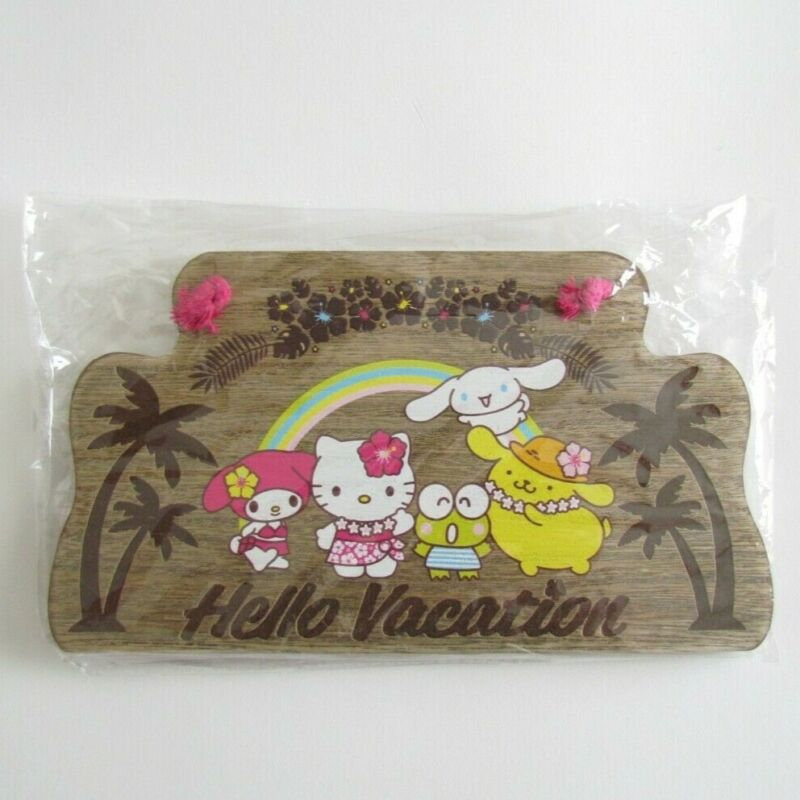 Sanrio Loot Crate Hello Kitty Hello Vacation Wooden Sign Exclusive Collection