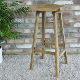 Handmade Traditional Solid Wood Kitchen Chair Stool