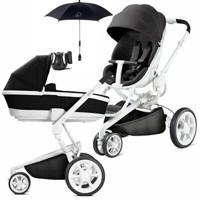 Used, QUINNY MOODD BLACK IRONY PRAM / CARRY COT / PARASOL AND CUP HOLDER NEW  for sale  Shipping to South Africa