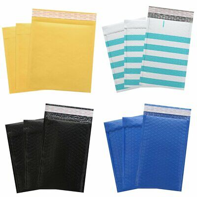 2550pcs Poly Bubble Mailer Envelopes Padded Mailing Shipping Bag Kraft Paper