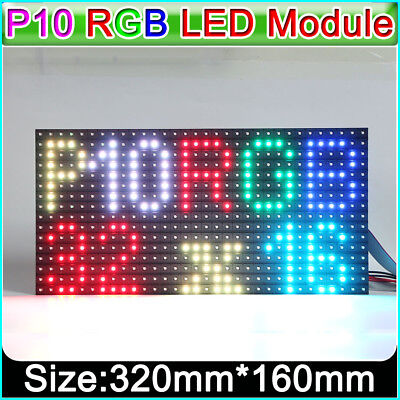 Rgb P10 Outdoor Led Matrix Display Module Pixel Panel 14scan 32x16 Dots Smd3535