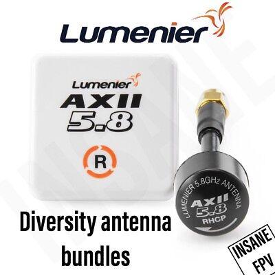 Lumenier AXII Diversity Antenna Bundle 5.8GHz RHCP - FPV Drone Goggles Fatshark