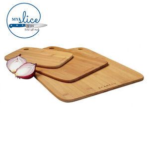 SCANPAN 3 Piece Bamboo Chopping/Cutting Board Set 18191