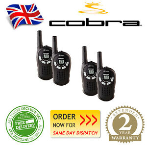 Cobra-MT115-4-Handheld-Walkie-Talkies-Quad-Pack-Intercom-8-Channel-5KM-Europe-UK