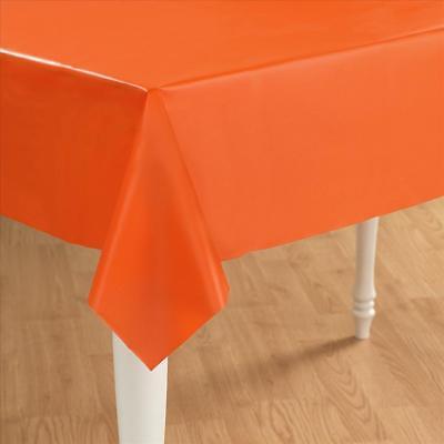 Orange Plastic Table Cover - Rectangle](Orange Plastic Table Cover)