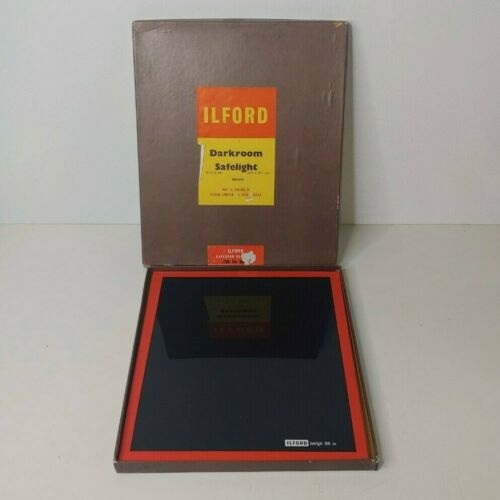"Vintage Ilford Darkroom Safelight Iso. No.906 - Old Draw Find - 10"" x 12"""