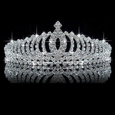 Wedding Bridal Princess Crystal Rhinestone Hair Accessory Tiara Crown Veil Gifts for sale  Shipping to Nigeria