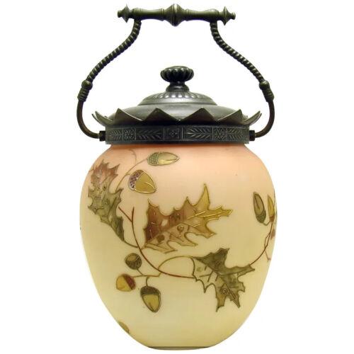 Mount Washington Burmese Glass Biscuit Jar - 1890