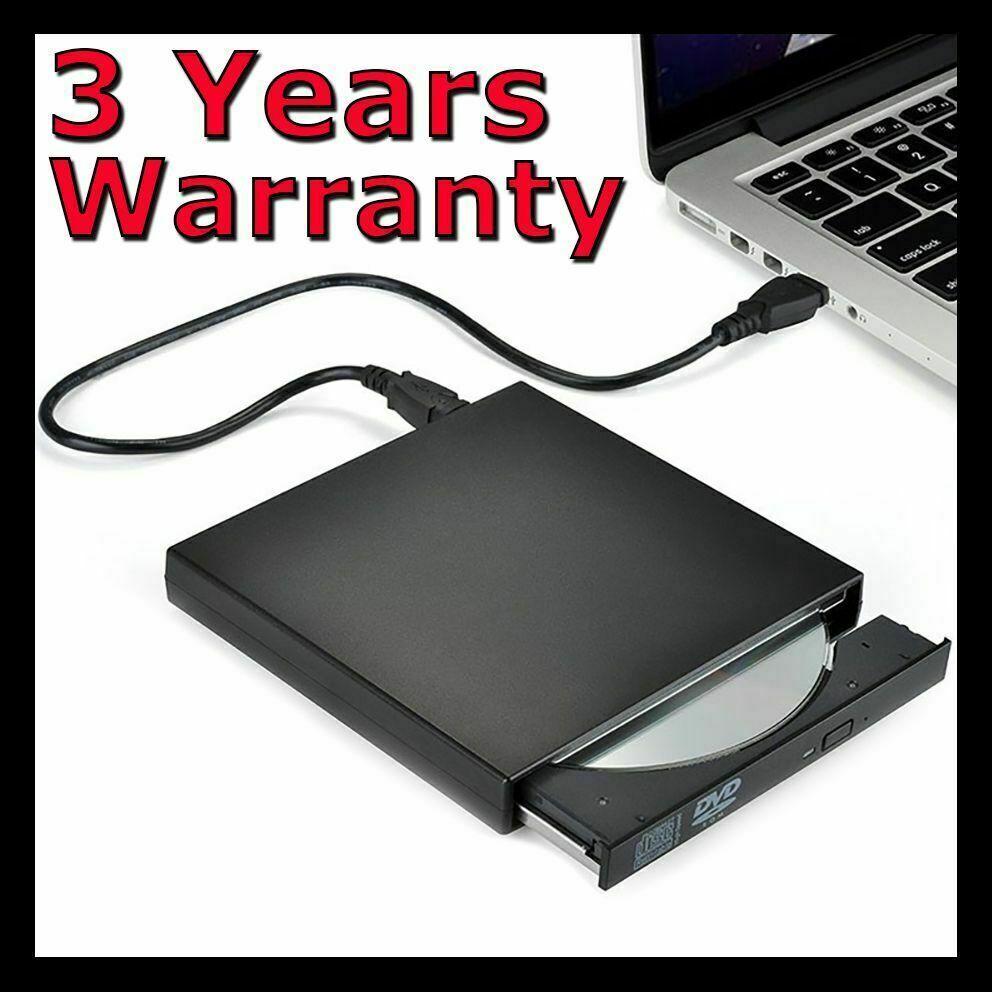 Laptop Windows - External Drive USB Portable Burner CD RW DVD ROM Reader Writer For Mac & Windows