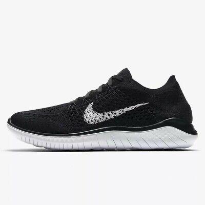 Wmns Nike Free RN Flyknit 2018 UK 7.5 EUR 42 Black White New 942839 001
