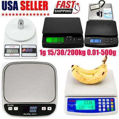 Lcd Digital Scale Electronic Kitchen Shipping Postal 1g 1530200kg 0.01-500g Us