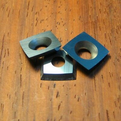 "11mm Square Carbide insert 2"" Radius for Ci2 Easy Wood Tools 3 PACK + Screws!"