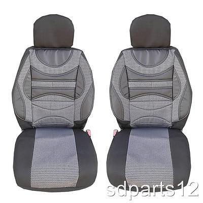 1+1 Premium Grau-Schwarz Cover Abdeckungen Sitze für Mercedes ML W163 A S