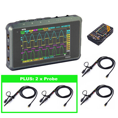 Dso213 4 Probes Handheld Mini Portable Pocketsized Digital Oscilloscope