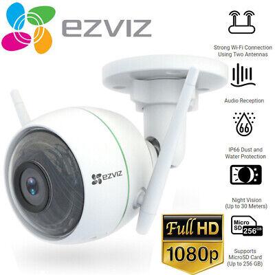 EZVIZ 1080p Outdoor WiFi Bullet Camera Weatherproof Smart Motion Detection C3WN