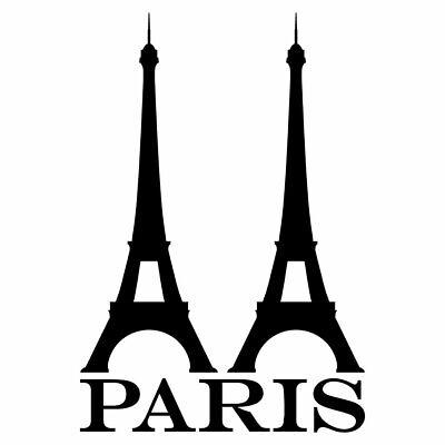 EIFFELTURM PARIS AUFKLEBER Deko Sticker Wandtattoo Möbel Fliesen Schriftzug Glas