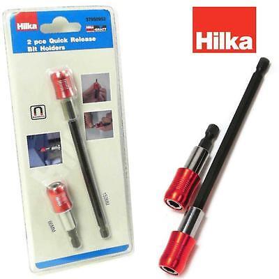 "HILKA Quick Release Bit Holders Magnetic 60 / 150 mm 1/4"" hex Drill Screwdriver"
