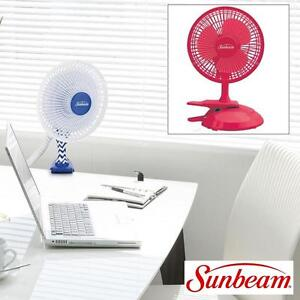 NEW SUNBEAM PERSONAL DESK/CLIP FAN - 109486981 - PINK COOLING TABLE OR CLIP 2 SPEED SETTINGS