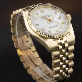 Rolex Datejust 18k Gold 16018