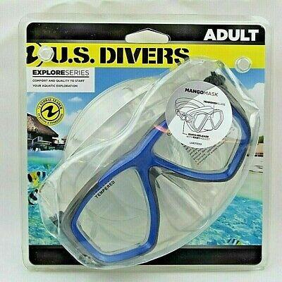 U.S Divers Mango II DX Explore Series Adult Scuba Dive Face Mask Tempered Glass