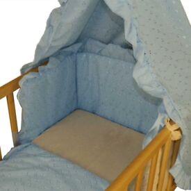 Blue anglaise 3 piece crib set