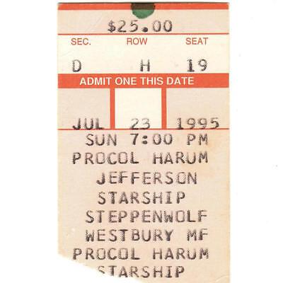 JEFFERSON STARSHIP & STEPPENWOLF & PROCOL HARUM Concert Ticket Stub WESTBURY NY