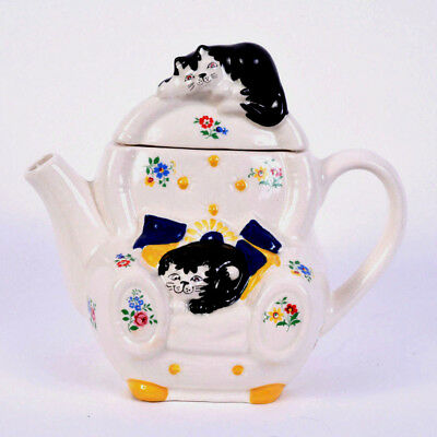 Wade England Whimsical Teapot Feline Collection Judith Wootton Cats on Chair for sale  Maryville