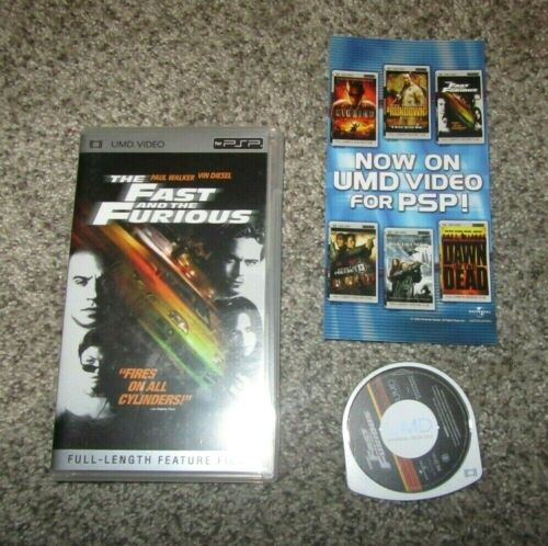PlayStation Portable PSP UMD Video Movie The Fast and the Furious 025192857225