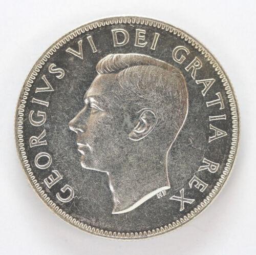 1951 Canada Silver Half Dollar George VI Km45 - 91199h
