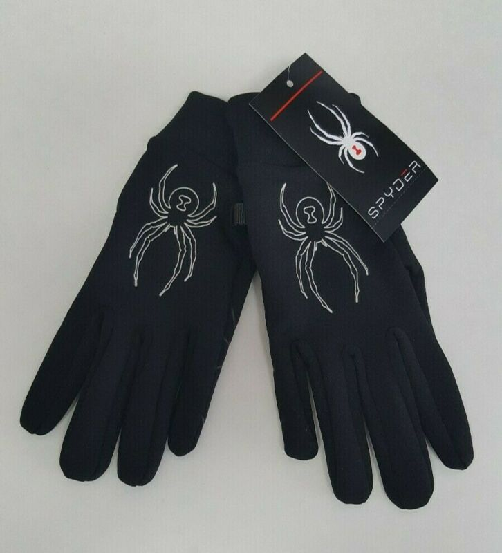 Spyder Women's Driving Running Jogging Lightweight Gloves Size S/M Black $39