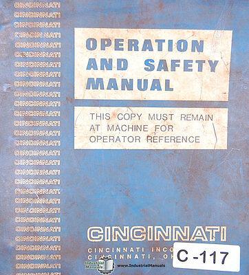 Cincinnati 100 Series Shear Operations And Maintenance Manual Year 1993