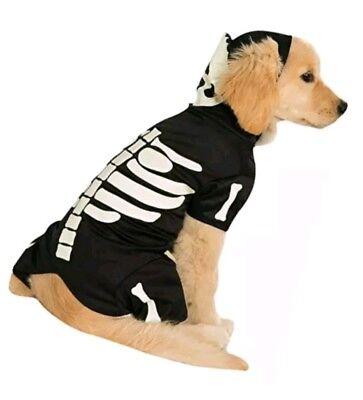 Official Rubie's Skeleton Hoodie Pet Dog Costume, Size Medium fits Pug, Maltese  (Malteser Hund Kostüm)