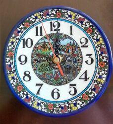 Handmade Armenian Ceramic wall clock made in the Holy Land 6