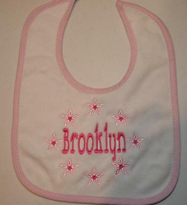 Personalized Monogrammed Baby Bib Absorbant Terry Cloth Velcro Close 3 colors - Monogrammed Terry Cloth