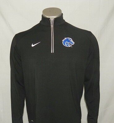 Boise State Broncos Nike Men's Game Day Half-Zip Knit Performance Shirt New