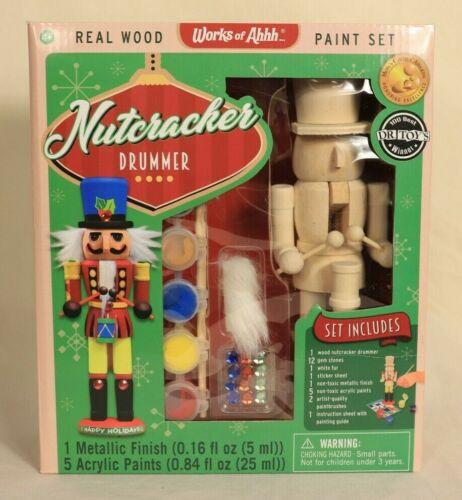 Works of Ahhh... Real Wood Nutcracker Drummer Paint Set