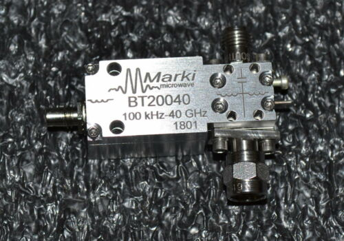 Marki Microwave BT2-0040 High Power Bias Tee, 100khz-40GHz, TWO Available, NEW